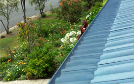 Gutter protection for tiled roofs